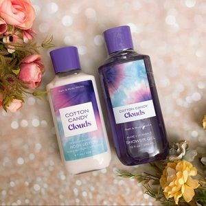 Bath and body works bbw cotton candy cloud lotion